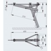 ALKO Compact - Pata larga superligera 800 kg para caravanas